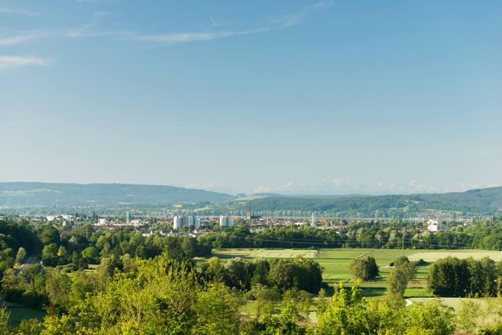 Herrliche Aussicht über Radolfzell vom Brandbühl Parkplatz fotografiert von Fotograf Rainer Rössler