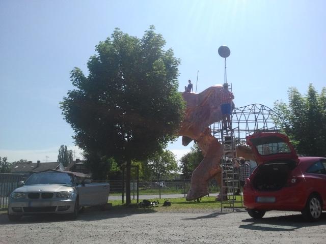 Making Of Elefant Fotoshooting in Bodman am Bodensee mit Kata