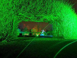 Landschaftsfotograf Essen -Fotograf Essen - Nachtaufnahme Lichtermeer Gruga Das Portal der Hoffnung Parkleuchten Grugapark