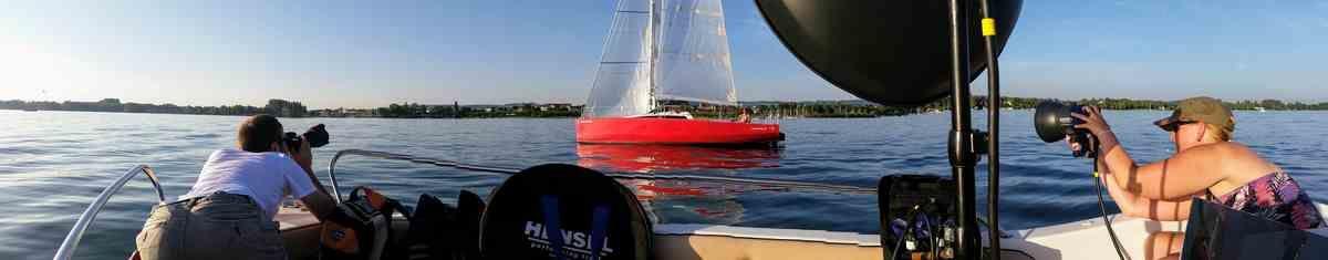 Fotoshooting mit Rainer Rössler RR Fotografie. Fotos von einem Segelboot auf dem Bodensee bei Radolfzell 2