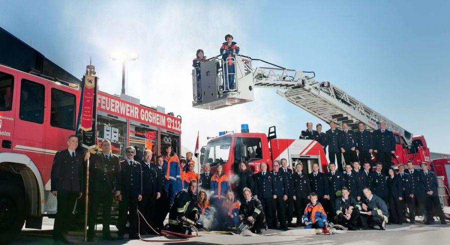 Businessfotoshooting Feuerwehr Gosheim mit Fotograf Rainer Rössler