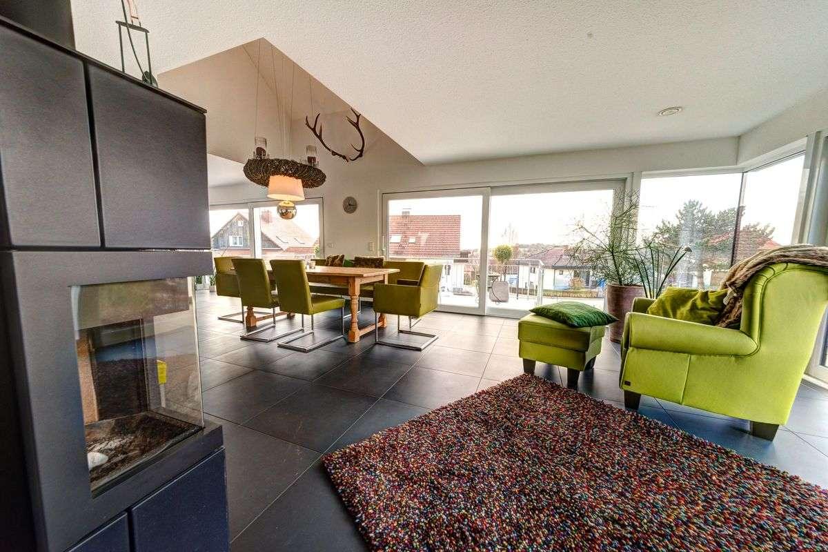 immobilienfotografie rewa aach bodensee wohnzimmer kamin. Black Bedroom Furniture Sets. Home Design Ideas