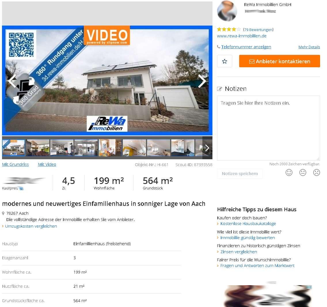 Immobilienfotografie für ReWa in Aach am Bodensee