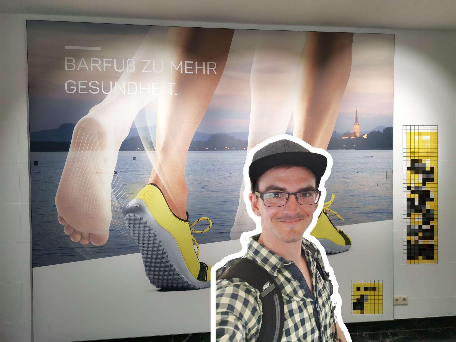 collage produktfoto ausdruck print barfuss schuhe radolfzell titelbild produktfotografie stimmungsvoll lokal einladend Fotograf radolfzell bodensee hegau