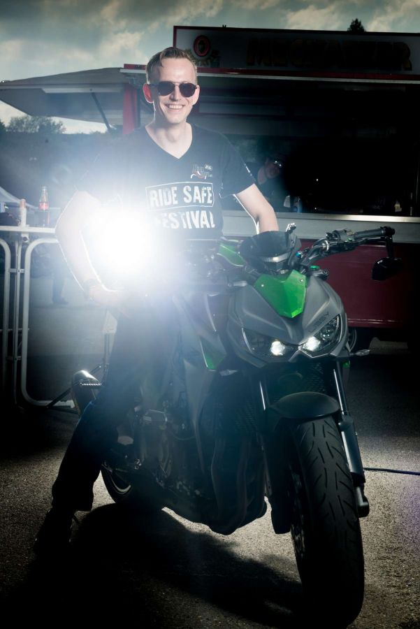 Motorrad Fotoshooting beim RideSafe Festival mit Fotograf Rainer Rössler